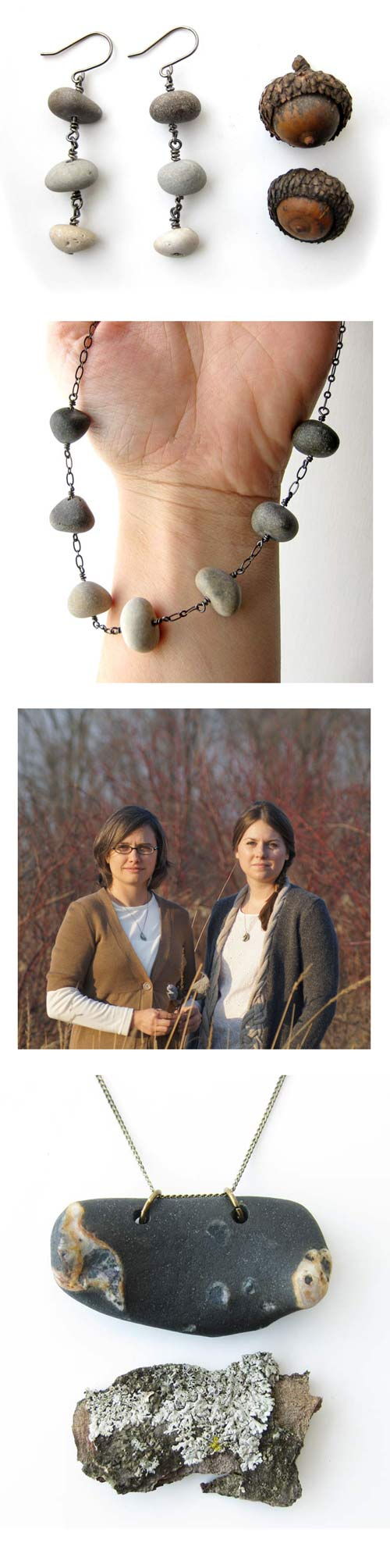 Natural stone jewelry by Jenny Hoople of Authentic Arts
