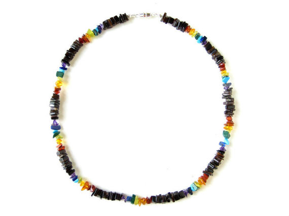 rainbow surfer pride necklace for everyone authentic