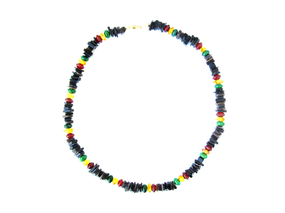 rasta black shell necklace for who take it easy