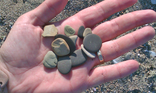 Beach Stones I'm Going to Turn into Natural Jewelry!