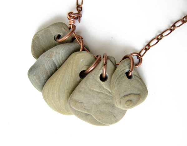 The first necklace made with Topo stones!