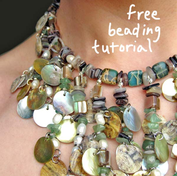Free bib necklace beading tutorial by Jenny Hoople of Authentic Arts