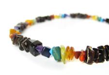 Men's gay pride necklace by Authentic Arts