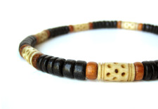Morocco necklace by Authentic Arts, for men who can't help but travel.