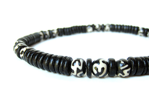 Om necklace for men who aren't afraid of a little Yoga. (By Authentic Arts)