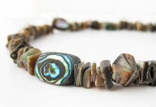 100% abalone necklace for surfers with fine tastes by Authentic Arts