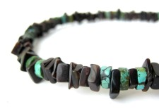 Sky Sliver mens turquoise necklace by Authentic Arts.