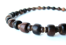 Mens wood necklace by Authentic Arts