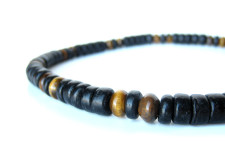 Cat's Eye (tiger eye beaded necklace for men) by Authentic Arts