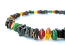 Rasta men's shell necklace by Jenny Hoople
