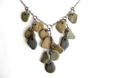 Lake Michigan stone necklace, a geology lesson for water nymphs. (by Jenny Hoople of Authentic Arts)