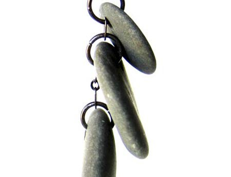Natural Slate Cairn Necklace to calm the soul during hectic workdays. (by Jenny Hoople of Authentic Arts)