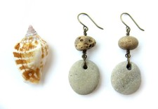 Natural stone earrings to wear to your cousin's destination wedding in Jamaica. (By Jenny Hoople of Authentic Arts)