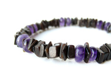 Amethyst Surf, the perfect mens bracelet for parasailing in board shorts in the Bahamas!
