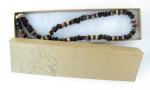 Leopardskin jasper men's surfer necklace by Jenny Hoople of Authentic Arts.