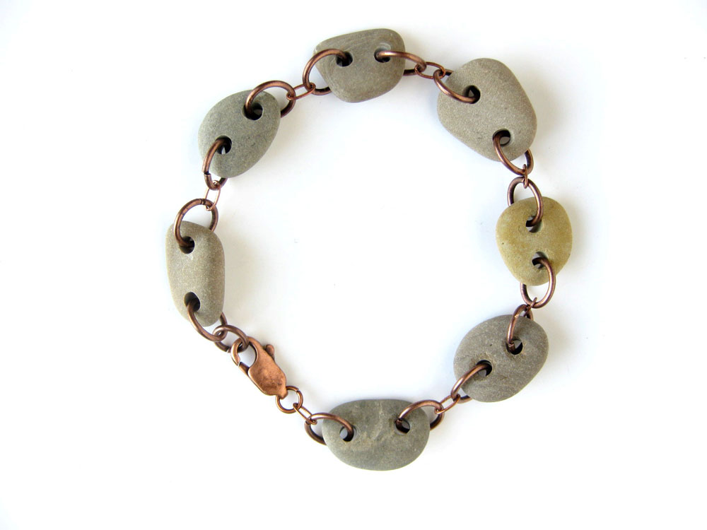 Natural Stone Bracelet for the woman who believes in mountain streams and silence. (handmade by Jenny Hoople of Authentic Arts)