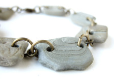 River rock bracelet handmade by Jenny Hoople. Ground yourself in wonder!