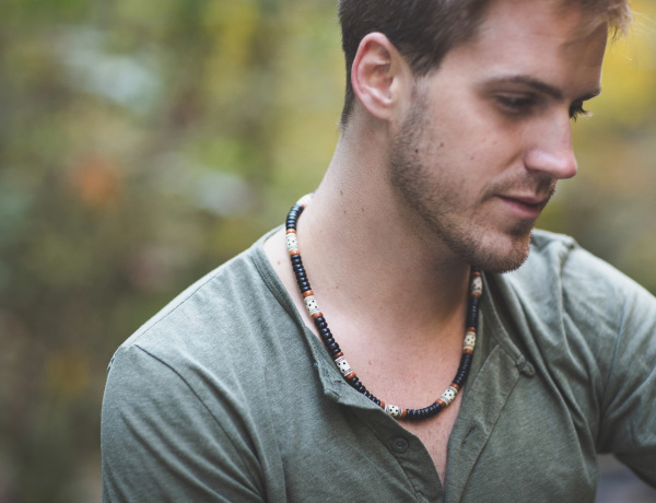 Rugged mens jewelry by Jenny Hoople of Authentic Arts
