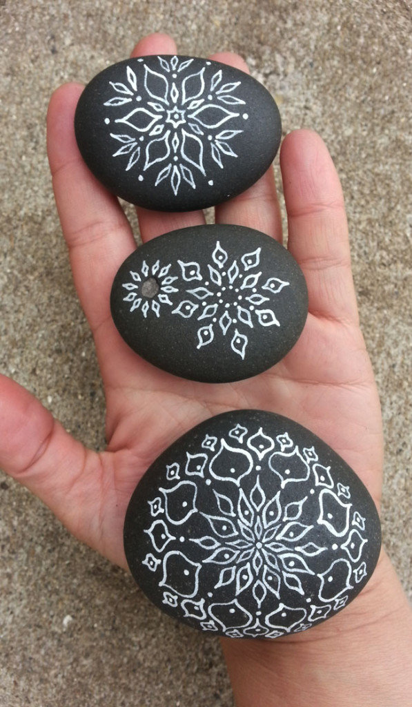 A thoughtful gift for your special trail-hiking buddy. Mandala Stone original art by Jenny Hoople of Authentic Arts