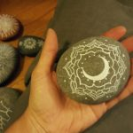 Give her a special mandala stone to keep on a windowsill. Whenever she looks at it she will think of you and come back to center. Every stone is a moment. (By Jenny Hoople of Authentic Arts, jennyhoople.com )