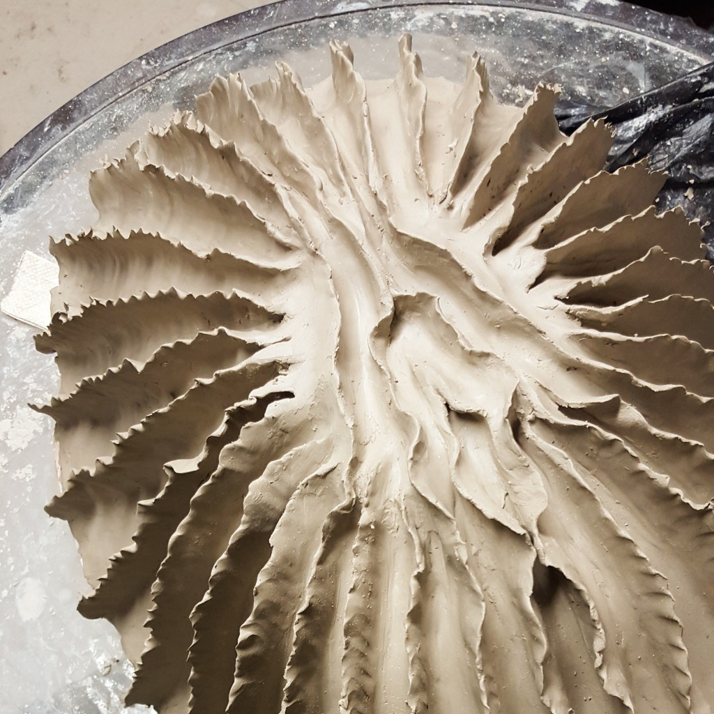 Organic clay sculpture in progress by Jenny Hoople. Click through to read about the inspiration behind her organic forms!