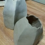 Ceramic barnacle sculpture in progress by Jenny Hoople