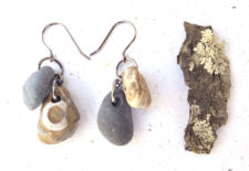Elegant river rock earrings by Jenny Hoople of Authentic Arts