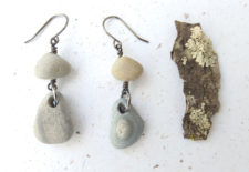 Natural stone earrings by Jenny Hoople of Authentic Arts