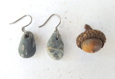 Natural black stone earrings by Jenny Hoople of Authentic Arts