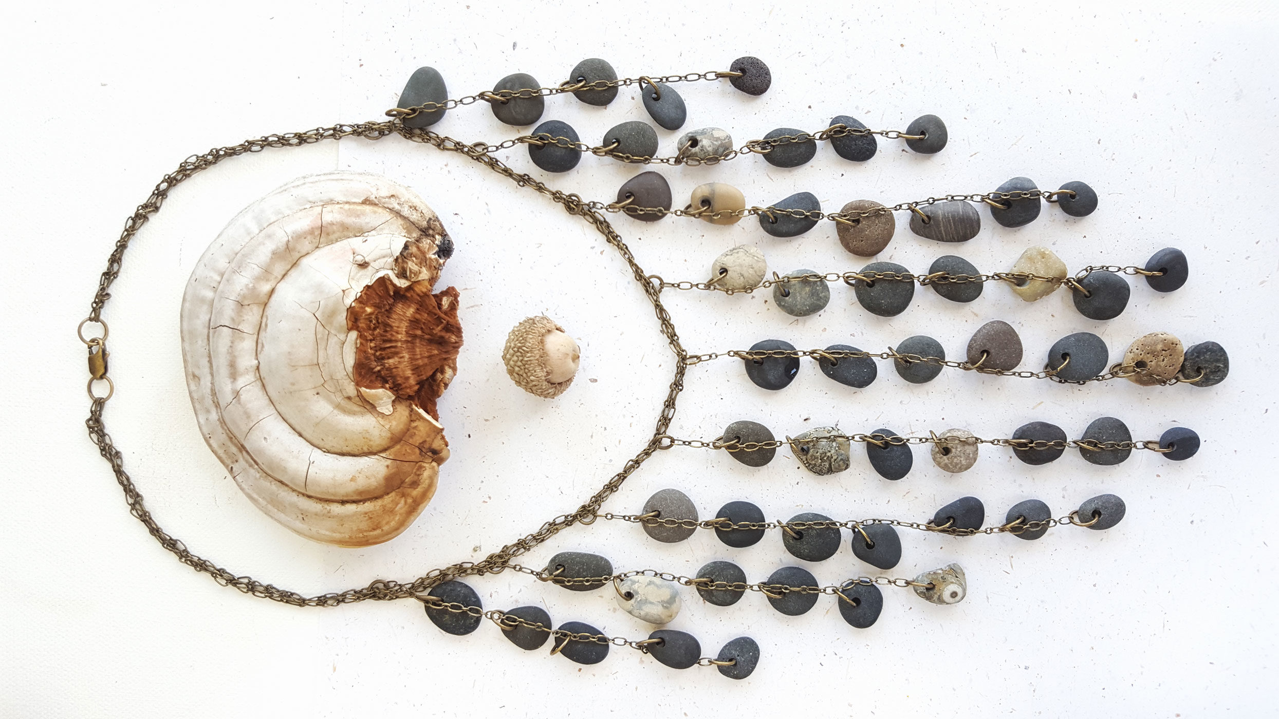 Gorgeous beach stone necklace for sea goddesses (by Jenny Hoople of Authentic Arts)
