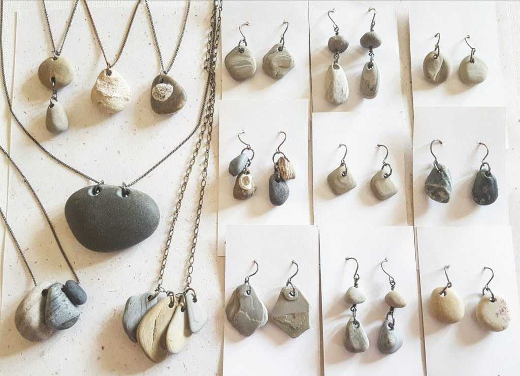 River stone jewelry by Jenny Hoople of Auithentic Arts