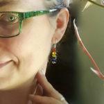 Rainbow Gemstone Earrings by Jenny Hoople of Authentic Arts
