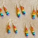 little rainbow gemstone earrings by jenny hoople of authentic arts