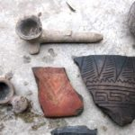 pottery-shartds-and-pipe