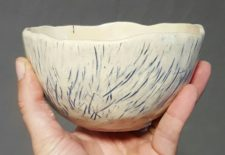 One-of-a-kind pottery bowls by Jenny Hoople of Authentic Arts