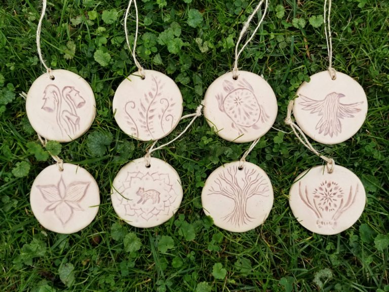 Handmade ceramic Christmas ornaments by Jenny Hoople of Authentic Arts