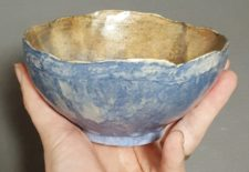 One-of-a-kind pottery bowl by Jenny Hoople of Authentic Arts