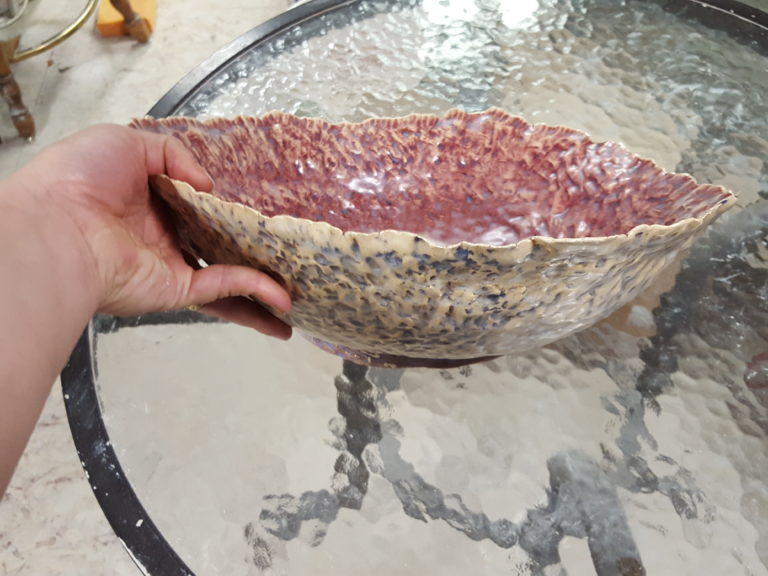 Seashell Serving Bowl by Jenny Hoople of Authentic Arts