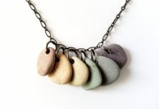 Natural stone rainbow necklaces by Jenny Hoople of Authentic Arts