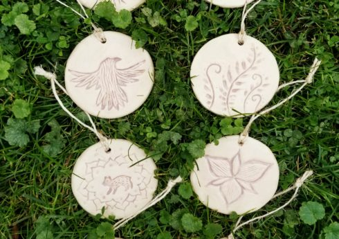 Click here to buy some of my handmade ceramic Christmas ornaments!