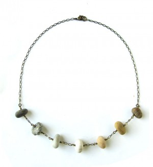 Brass and Stone Ombre Necklace by Jenny Hoople of Authentic Arts