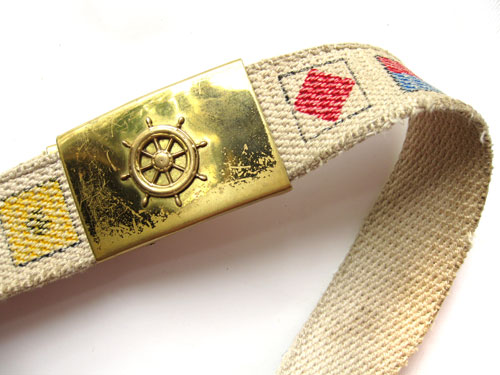 My Grandpa Good's brass belt buckle :) for sailors only!